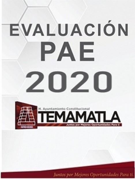 EVALUACIÓN PAE 2020